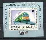ROMANIA 1979 – LOCOMOTIVA ELECTRICA, colita nestampilata TR123