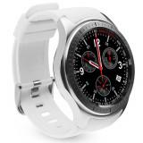 Smartwatch Telefon cu Android iUni DM368, AMOLED 1,39 inch, WIFI, 3G, GPS, Bluetooth, Monitorizare Puls, Alb