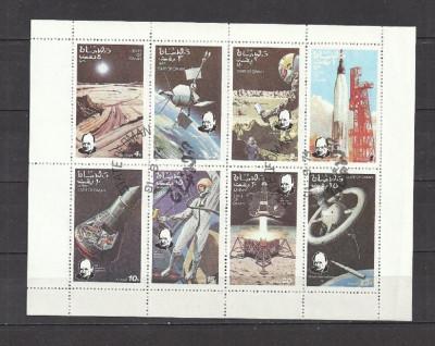 OMAN 1974 - COSMOS, kleinbogen stampilat, TR111 foto