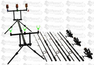 Kit Pescuit Complet Pescuit Crap 3.9m Cu Mulinete7000 Long Cast foto