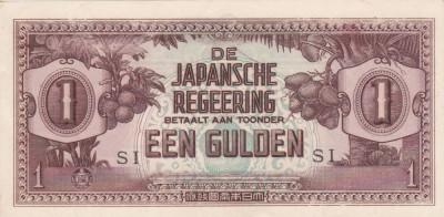 NETHERLANDS INDIES 1 gulden 1942 AUNC!!! foto