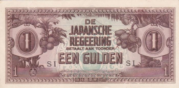 NETHERLANDS INDIES 1 gulden 1942 AUNC!!! foto mare