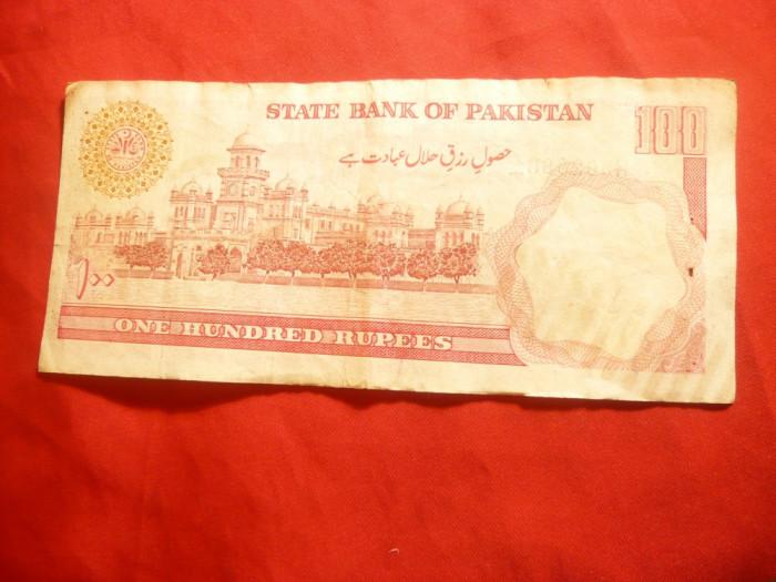 Bancnota 100 Rupii Pakistan , cal. f.buna foto mare