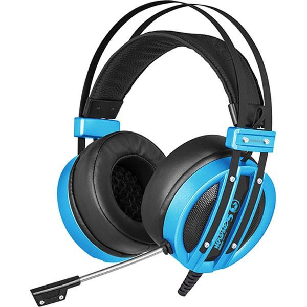 Casti Gaming Marvo Hg9037 Usb Virtual 7.1 Blue foto mare