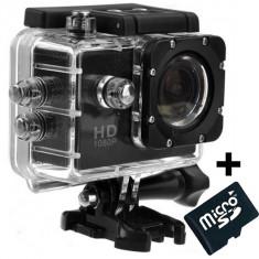 Camera Sport iUni Dare 50i HD 1080P, 12M, Waterproof, Negru + Card MicroSD 8GB Cadou - Camera Video Actiune