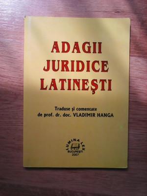 Adagii juridice latinesti - Vladimir Hanga foto