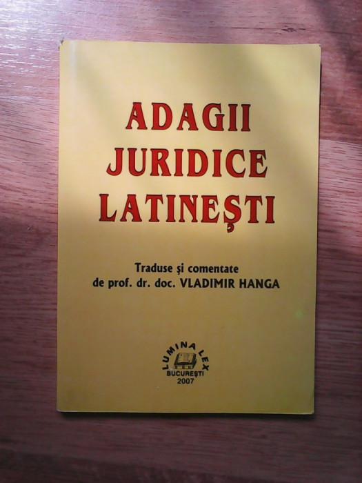 Adagii juridice latinesti - Vladimir Hanga