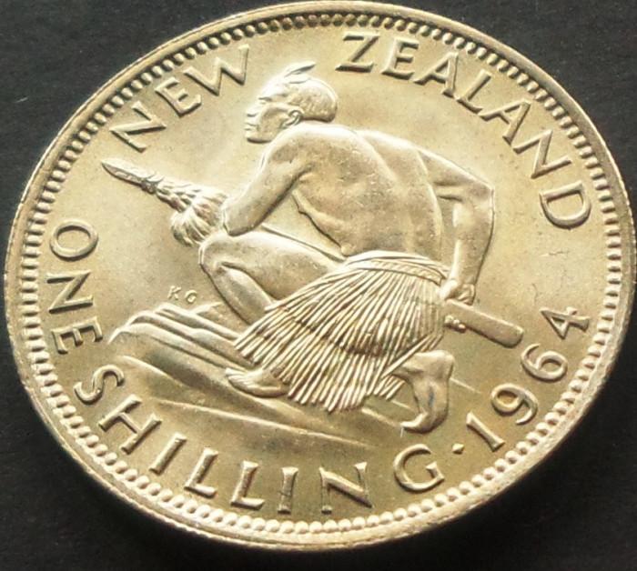 Moneda 1 SHILLING - NOUA ZEELANDA, anul 1964 *cod 3190 - UNC DIN SET NUMISMATIC foto mare
