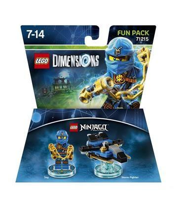 Set Lego Dimensions Fun Pack Ninjago Jay foto mare