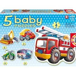Baby Puzzle Vehicule foto mare