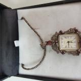 Lant argint 925 cu pandant ceas dama femei deosebit din argint cadoul perfect, Quartz