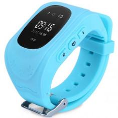 Ceas cu GPS Tracker si Telefon pentru copii iUni Kid60, BT, Apel SOS, Activity and sleep, Albastru + Spinner Titirez Cadou - Smartwatch