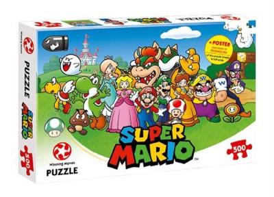 Joc Puzzle Super Mario & Friends 500Pcs foto