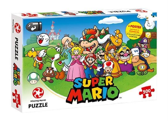 Joc Puzzle Super Mario & Friends 500Pcs foto mare