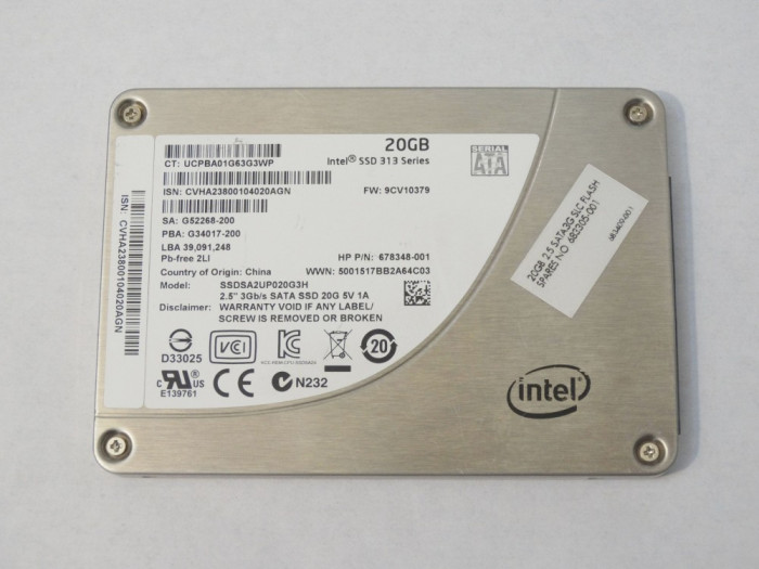 SSD 20 Gb Intel SSD 313 series - perfect functional