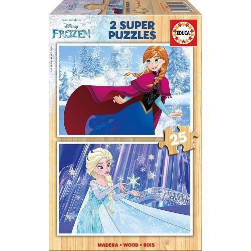Puzzle Din Lemn Frozen 2 X 25 Piese foto mare