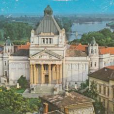 Vedere color, 104 x 147 mm, marca fixa, circulata, Palatul Cultural, Arad, Printata
