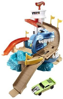 Jucarie Hot Wheels Color Shifters Sharkport Showdown Trackset foto mare