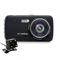 Camera Auto Dubla iUni Dash DC04, Full HD, Senzor G, LCD 4.0 Inch, Detectare miscare, Night vision - Camera video auto iUni, Double