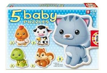 Puzzle Bebe Cu Animale foto