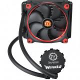 Cooler procesor Thermaltake Water 3.0 Riing Red 140 , Sistem preumplut cu lichid , Compatibil Intel si AMD