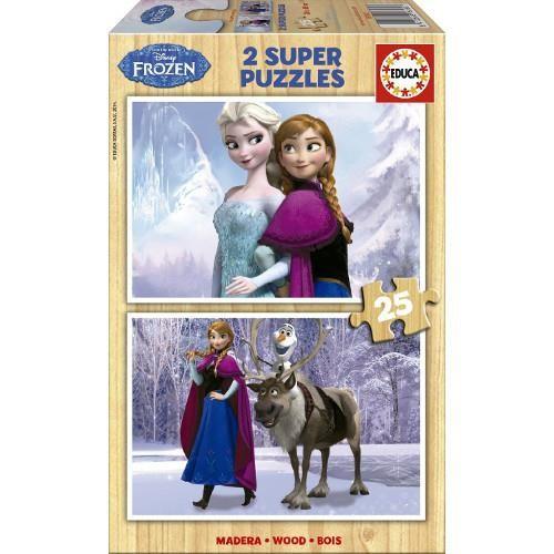 Puzzle Din Lemn Frozen, 2X25 Piese foto mare