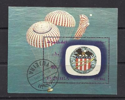 FUJEIRA 1972 – COSMOS APOLLO 16, colita stampilata, TR111 foto