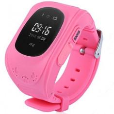 Ceas cu GPS Tracker si Telefon pentru copii iUni Kid60, BT, Apel SOS, Activity and sleep, Roz + Spinner Titirez Cadou - Smartwatch