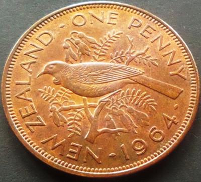 Moneda 1 PENNY - NOUA ZEELANDA, anul 1964 *cod 3833 - UNC DIN SET NUMISMATIC foto