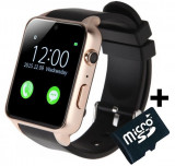 Ceas Smartwatch Telefon iUni GT88, BT, Camera 2 MP, 1.54 Inch, Gold + Card MicroSD 4GB Cadou