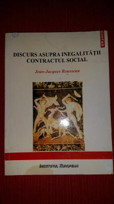 DISCURS ASUPRA INEGALITATII DINTRE OAMENI - JEAN JACQUES ROUSSEAU foto