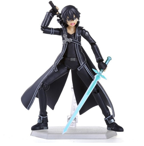 Figurina Kirito Sword Art Online anime  14 cm foto mare