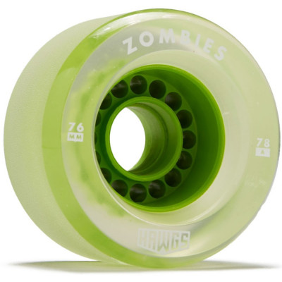 Set 4 roti Longboard Zombie Hawgs Clear 76mm lime foto