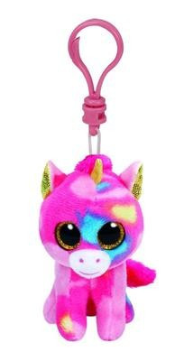 Breloc Ty Beanie Boo Fantasia The Rainbow Unicorn foto mare