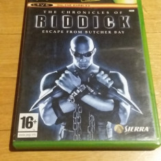 JOC XBOX clasic The chronicles of Riddick Escape from Butcher Bay PAL / WADDER - Jocuri Xbox Ubisoft, Actiune, 16+, Single player