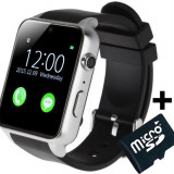 Ceas Smartwatch Telefon iUni GT88, BT, Camera 2 MP, 1.54 Inch, Silver + Card MicroSD 4GB Cadou