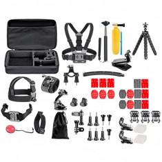 Set 52 accesorii camera sport GoPro, iUni Kit9 - Camera Video Actiune