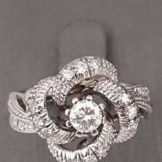 Superb inel din aur 18k cu briliante - Inel diamant, Culoare: Alb