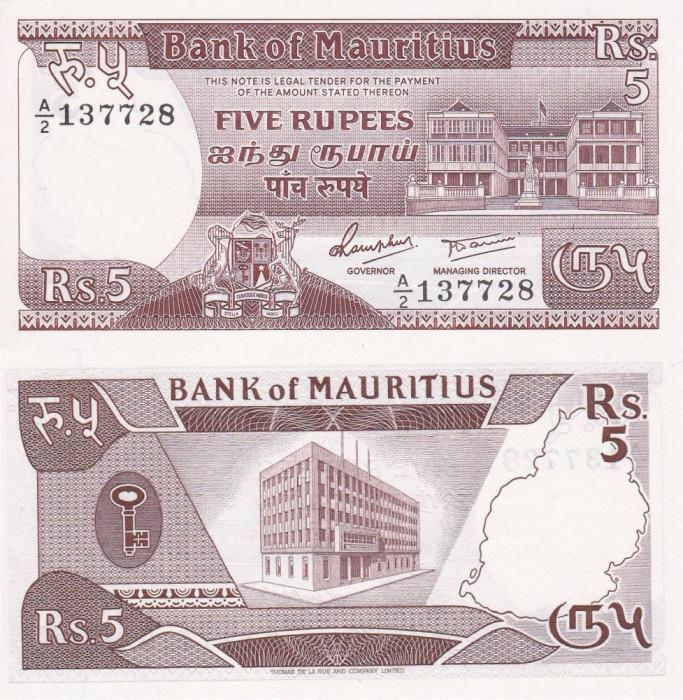 MAURITIUS 5 rupees 1985 UNC!!!