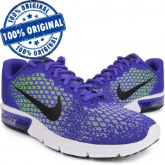 Pantofi sport Nike Air Max Sequent 2 pentru barbati - adidasi originali - Adidasi barbati Nike, Marime: 40, 40.5, 42, 44.5, Culoare: Albastru, Textil
