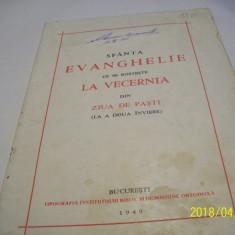 sfanta evanghelie-la vecernie in ziua de pasti 12 limbi an 1949