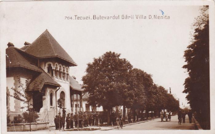 TECUCI BULEVARDUL GARII,VILA D. NENITA,CIRCULATA 1930 ,ROMANIA. foto mare