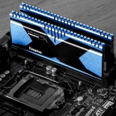 KIT 8GB DDR3 KINGSTON HYPERX PREDATOR 2 X 4GB, 2400 MHz CL11, XMP, IMPECABILE - Memorie RAM Kingston, Peste 2000 mhz, Quad channel