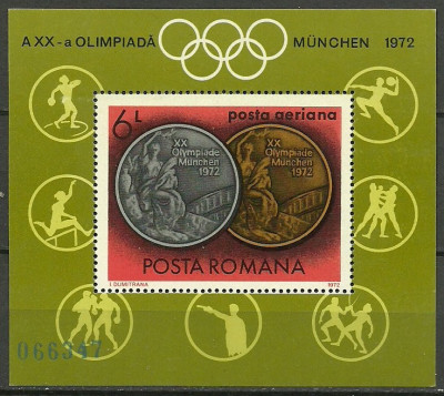 1972 - medalii olimpice, colita neuzata foto