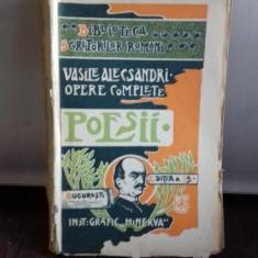 OPERE COMPLETE. POESII - VASILE ALECSANDRI - Carte veche