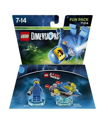 Set Lego Dimensions Fun Pack Lego Movie Benny foto mare