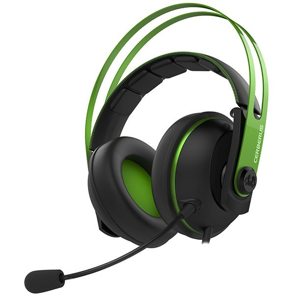Casti Gaming Asus Cerberus V2 Negru Verde foto mare