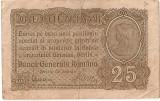 ROMANIA 25 BANI BGR 1917 VF