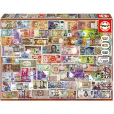 Puzzle Educa World Banknotes 1000 Piese