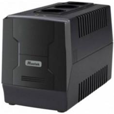 UPS Mustek PowerMust 400EG Line Interactive, 450VA/240W, 2 x Schuko, LED (Negru)